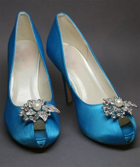 turquoise wedding shoes wedding shoes turquoise blue peeptoes with pearl and