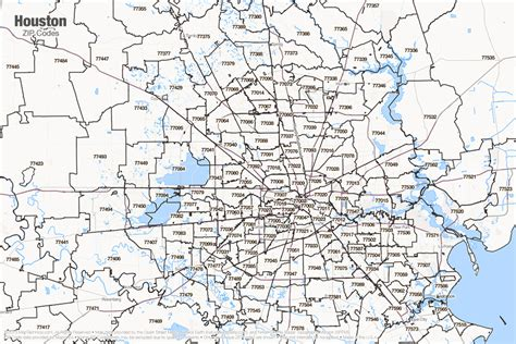 map of houston texas zip codes houston tx zip code map