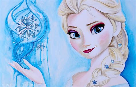 elsa painting frozen painting elsa