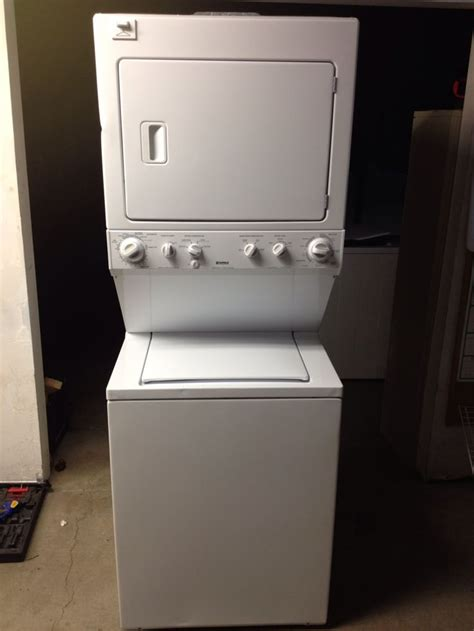 kenmore stackable washer dryer newer kenmore stackable washerdryer recipes cook pinterest washer laundry basement apartment