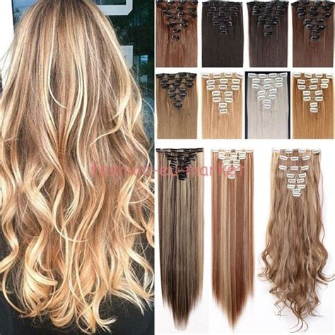 real human hair extensions us real 8pc 18 clips clip in hair extensions hairpiece