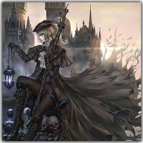bloodborne lady maria art silk poster print game