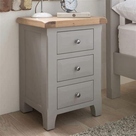 grey wallpaper with oak furniture vida living clemence soft grey and solid oak bedside table
