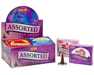 Incense Cone Assorted om imports wholesale hem assorted cones incense