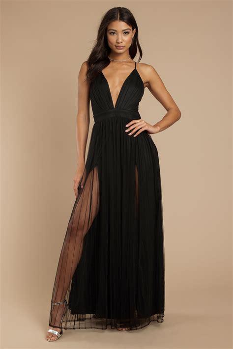 black maxi dress formal tulle gown black evening dress 51 tobi us