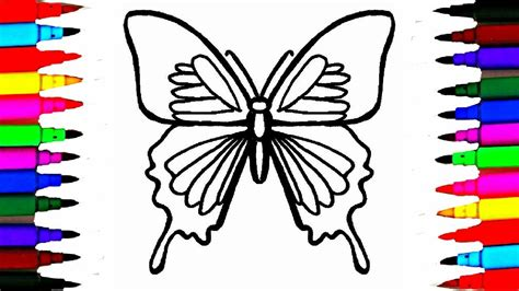 butterfly colors colours for butterfly coloring pages l how to draw