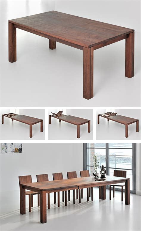 classic extending dining table from solid wood wooden