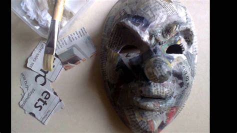 How To Make Paper Mache Masks On Your - evil clown paper mache mask