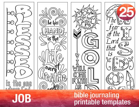 templates for bible bookmarks job 4 bible journaling printable templates illustrated