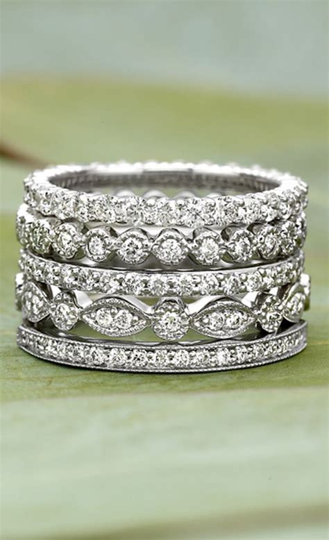 stacked eternity wedding bands s wedding rings spinach other cool things
