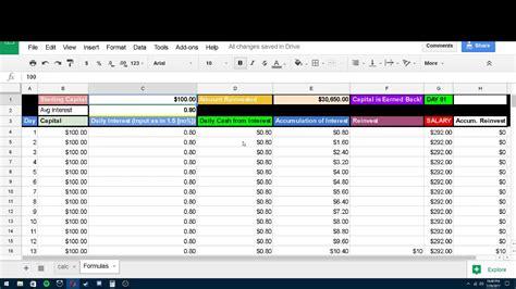 Compound Interest Calculator Spreadsheet by Banks With Compound Interest Rates And Compound Interest