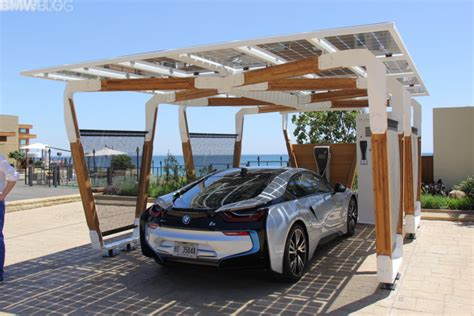 Cars Port by Bmw Designworks Solar Carport And Bmw I Wallbox Pro