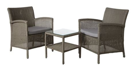 mimosa 3 piece aluminium wicker outdoor setting bunnings