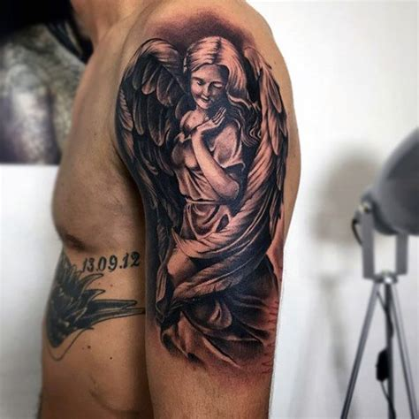 angel tattoos for men on arm 50 best designs and ideas