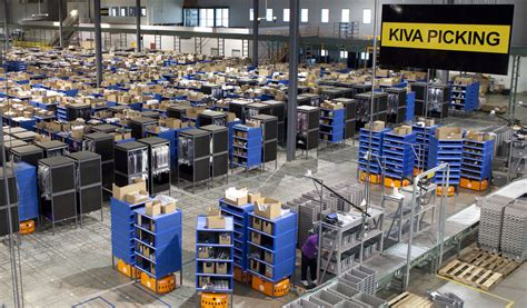 amazon warehouse amazon uses an army of robot workers in its warehouse to
