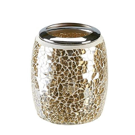 gold crackle bathroom accessories buy gold crackle mosaic glass toothbrush holder from bed