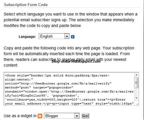 membuat form artikel cara membuat form berlangganan postingan artikel via email