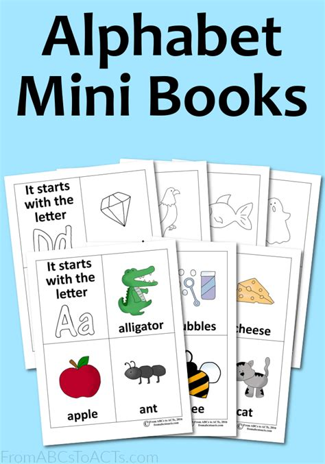 printable alphabet letters books alphabet mini books from abcs to acts