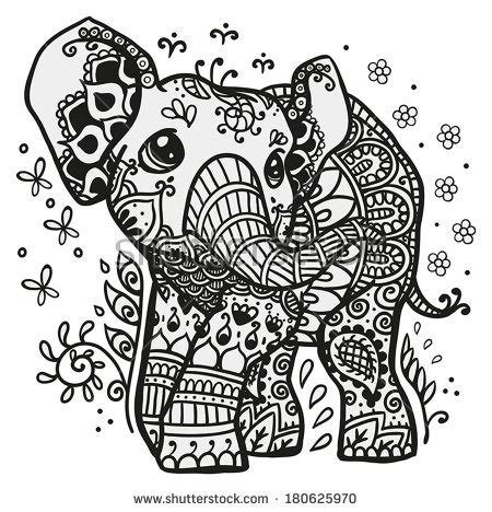 coloring pages abstract elephant stock images similar to id 46120231 abstract mandala