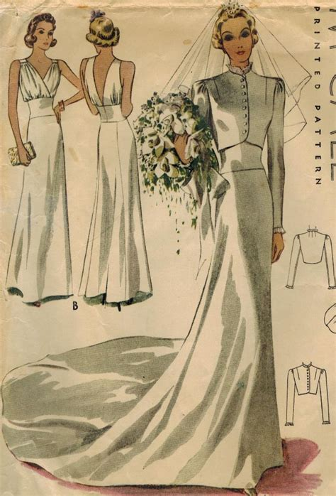 vintage pattern wedding dress reserved 1930s mccall 9784 vintage sewing pattern misses