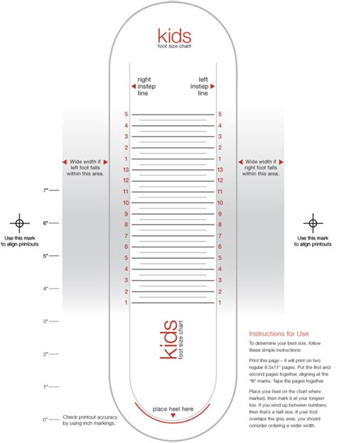 shoe size chart how to measure size charts measurements jcpenney