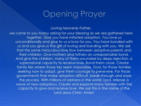 prayer for opening adoption prayer service 2