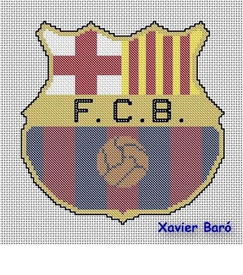imagen en punto en cruz el escudo de emelec patron del escudo del barcelona en punto de cruz imagui