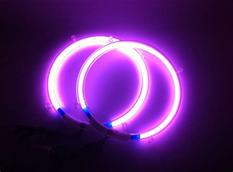 neon purple jeep 10 inch purple neon speaker rings glow subwoofer
