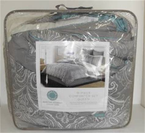 martha stewart collection bedding briercrest 9 piece new martha stewart briercrest 9pc queen comforter set
