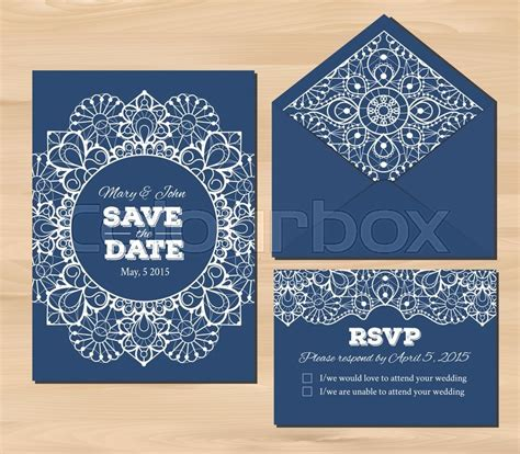 wedding response card envelope template wedding set with lace elements save the date invitation