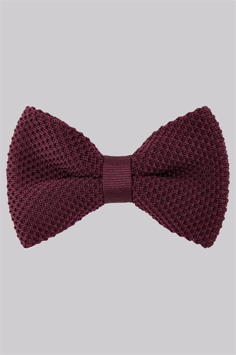 knit bow tie moss wine knitted bow tie