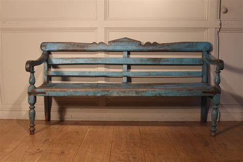 painted wooden benches sold 20c wooden painted bench antique recent acquisitions
