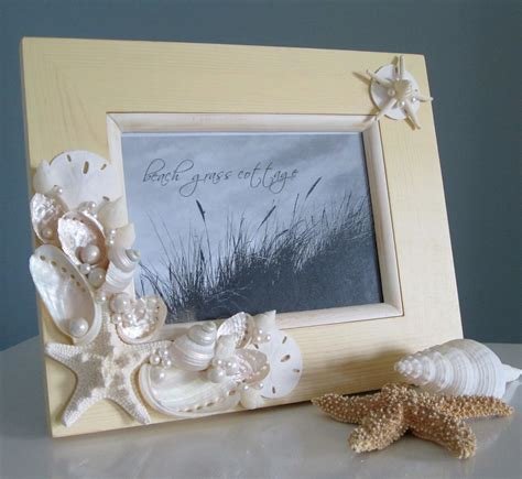 seashell frame nautical home decor shell frame in
