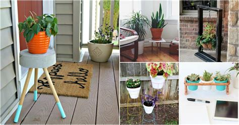 easy diy outdoor plant stands  show   patio