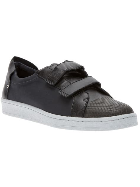 adidas slvr velcro fastening trainer in black for lyst