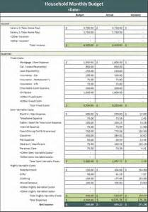 Household Excel Budget Template Ms Excel Monthly Household Budget Template Formal Word