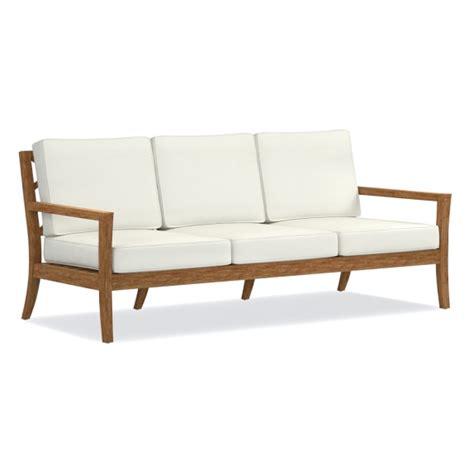 garden teak sofa williams sonoma