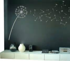 Dandelion Wall Art Stickers Dandelion Blowing In The Wind Wall Decal Contemporary