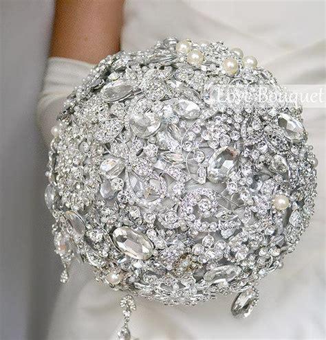 wedding bouquet jewelry silver wedding brooch bouquet grey bridal bouquet