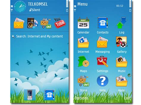 themes nokia c6 mobile phones clarity theme for s60v5 by atlantis