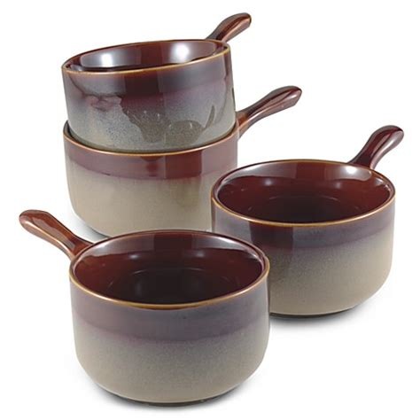 nova brown canisters set of 4 bed bath beyond nova brown 4 7 8 inch onion soup bowls set of 4 bed