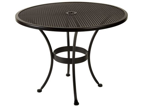 round wrought iron patio ow lee mesh wrought iron 36 round dining with