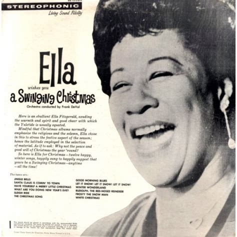 ella fitzgerald wishes you a swinging christmas виниловая пластинка ella fitzgerald wishes you a