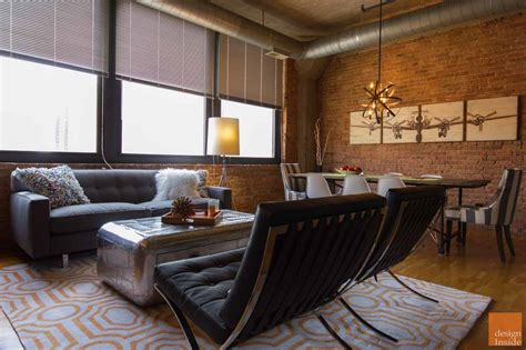 living room chicago chicago rustic modern living dining room design project