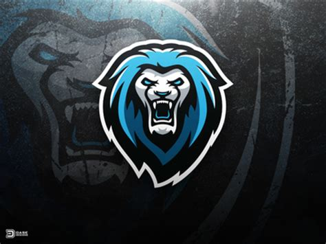 awkn lion esports logo by derrick stratton dribbble