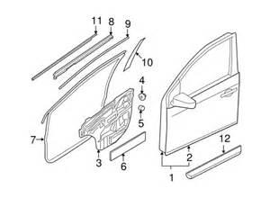2012 Nissan Sentra Parts Belt Molding For 2012 Nissan Sentra 80821 Et000