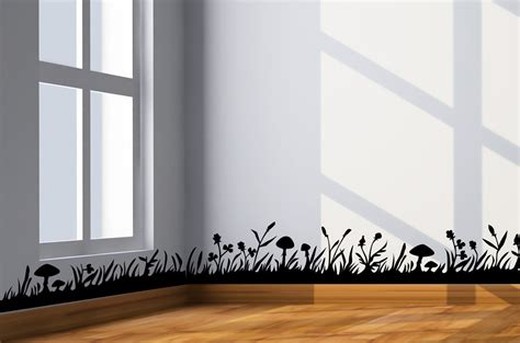 wall border stickers grass border wall decal wall border decal sticker