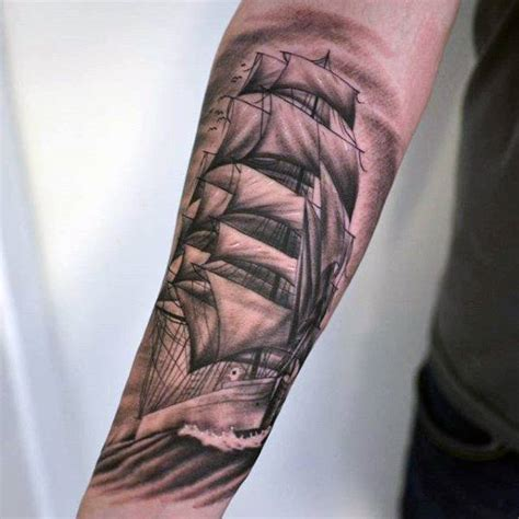 traditional pirate ship tattoo 70 ship ideas for a sea of sailor designs