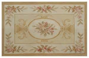 Used Wool Rugs Pastel Gold Ivory Aubusson Rug Pink Rose Country French