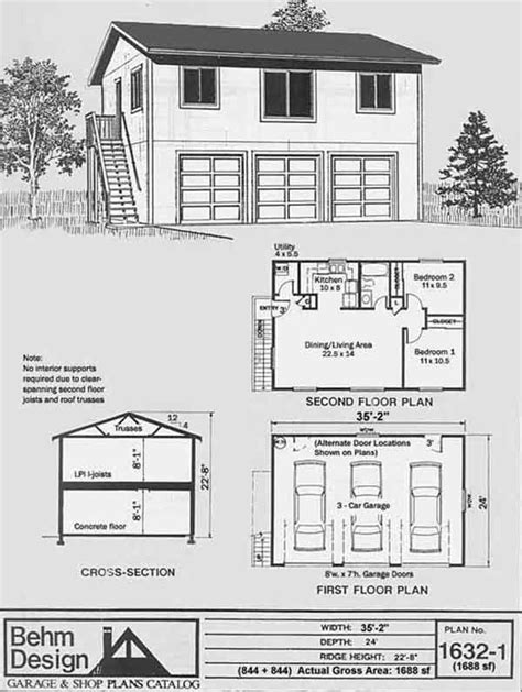 two story apartment floor plans behm design 2 story apartment garage plan no 1632 1 the spouse s getaway home garage